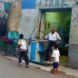 the wonderful ironing men of Egypt!
